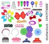 hair accessory vector kids... | Shutterstock .eps vector #1441976888