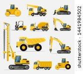 set of construction equipment...   Shutterstock .eps vector #1441984502