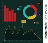 flat design ui infographic...