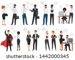 businessmen  office people... | Shutterstock . vector #1442000345