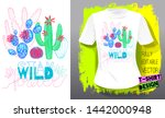 cactuses succulents colorful... | Shutterstock .eps vector #1442000948