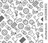 football seamless pattern with... | Shutterstock .eps vector #1442008352