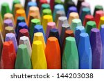 The Stacks Of Crayon Shot Over...