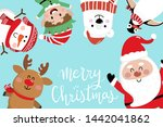 merry christmas greeting card... | Shutterstock .eps vector #1442041862
