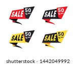 set of sale banners template... | Shutterstock .eps vector #1442049992