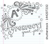 a plus student great grades... | Shutterstock .eps vector #144207232