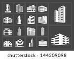 buildings vector white web... | Shutterstock .eps vector #144209098