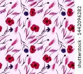 watercolor seamless pattern... | Shutterstock . vector #1442096282