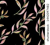 watercolor seamless pattern... | Shutterstock . vector #1442097482