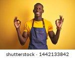 african american bartender man... | Shutterstock . vector #1442133842