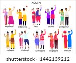 set of south east asian people... | Shutterstock .eps vector #1442139212