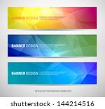 A set of modern vector banners with polygonal background - stock vector