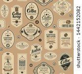 vector seamless pattern on... | Shutterstock .eps vector #1442152082
