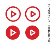 play button vector set. media... | Shutterstock .eps vector #1442166248