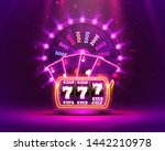 casino neon colorful fortune... | Shutterstock .eps vector #1442210978