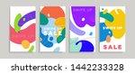 liquid fluid banners... | Shutterstock .eps vector #1442233328