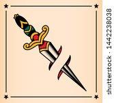 vector old school style tattoo... | Shutterstock .eps vector #1442238038