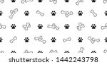 dog bone seamless pattern paw... | Shutterstock .eps vector #1442243798