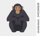Chimpanzee Icon. Cartoon...