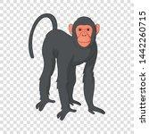 Bonobo Monkey Icon. Cartoon...