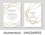 wedding invitation design or... | Shutterstock .eps vector #1442269052