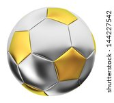 Silver And Golden Soccer Ball...