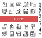 set of billing icons such as... | Shutterstock .eps vector #1442281448