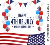 happy 4th of july  usa... | Shutterstock .eps vector #1442311838