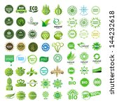 collection of vector eco sign | Shutterstock .eps vector #144232618