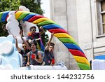 london   jun 29  the gay pride... | Shutterstock . vector #144232756