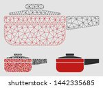 mesh dripping pan model with... | Shutterstock .eps vector #1442335685