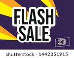 flash sale design for business...   Shutterstock .eps vector #1442351915