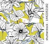 tropical  stripe  animal motif. ... | Shutterstock .eps vector #1442352182