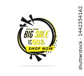 abstract circle big sale banner ... | Shutterstock .eps vector #1442354162