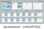 set desk calendar 2020 template ... | Shutterstock .eps vector #1442357522