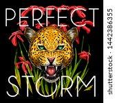 vector wild animal panther... | Shutterstock .eps vector #1442386355