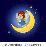 illustration of a fairy near... | Shutterstock .eps vector #144239956