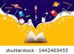 welcome back to school. school... | Shutterstock .eps vector #1442403455