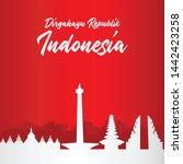 banner template indonesian...   Shutterstock .eps vector #1442423258