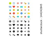 web icons set  vector version  | Shutterstock .eps vector #144242845