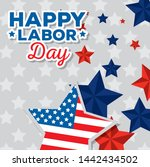 happy traditional labor day... | Shutterstock .eps vector #1442434502
