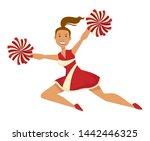 sport cheerleader in uniform... | Shutterstock .eps vector #1442446325