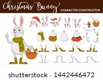 christmas bunny character... | Shutterstock .eps vector #1442446472