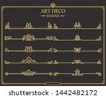 set of art deco gold... | Shutterstock .eps vector #1442482172