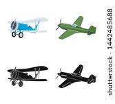 bitmap illustration of plane... | Shutterstock . vector #1442485688