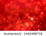 Ruby Red Bokeh Background With...