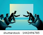 vector illustration of business ... | Shutterstock .eps vector #1442496785