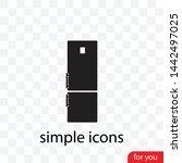a fridge vector icon  a  symbol ...   Shutterstock .eps vector #1442497025