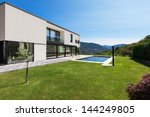 modern villa with pool  view... | Shutterstock . vector #144249805