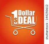 shopping cart on a bright... | Shutterstock .eps vector #144250612
